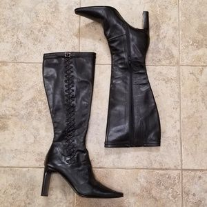 Tsakiris Mallas Great Cond Leather Knee High Boots